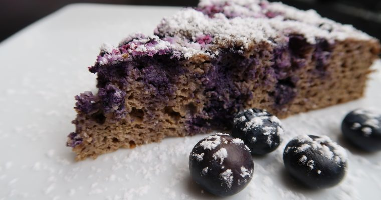 Quarkkuchen mit Blaubeeren