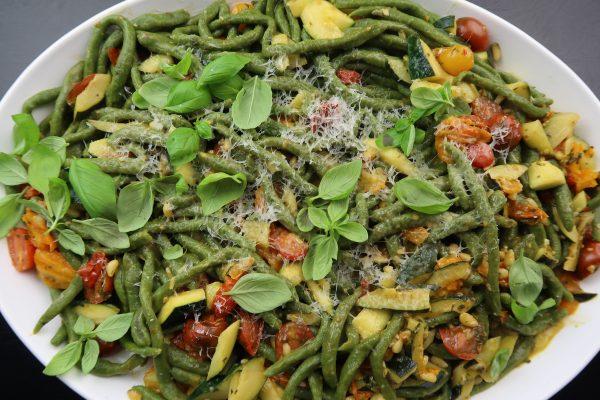 Spinat Pici mit Gemüse